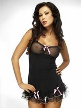 Sexy Babydoll nero pigiameria abito notte erotico intimo lingerie S M L XL - $34.73