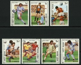 Vietnam Soccer Sport Cup Mexico '86 Serie Set of 7 Stamps Mint NH - $32.20