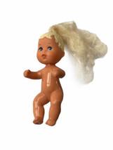 Vtg Mattel 1993 Baby barbie Krissy Long Rooted Blonde Hair Blue Eyes mer... - $10.88