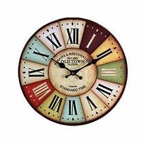 PANDA SUPERSTORE Retro Nostalgia Wooden Wall Clock Vintage Look Home Decoration( - $68.41