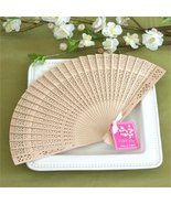 Sandalwood Fan in Glass Top White Box - Baby Shower Gifts & Wedding Favo... - $24.18