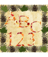 ABC and 123 Fall T3-Digital ClipArt-Fonts-Art Clip-Gift Tag-Notebook-Hol... - $4.99