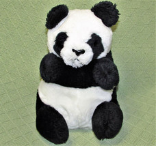 "Vintage DAKIN Panda Bear 1981 Plush Stuffed 9"" Sitting Black White Shred... - $37.39"