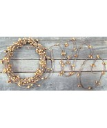 New Old Gold Pip String Garland~18 ft Crafts Wedding Venues Floral - $16.83