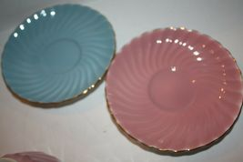 ANYSLEY Two Sets Cups and Saucers Pink and Blue Gold image 4