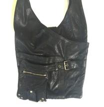 Black Buttery Leather Viva Of California Shoulder Bag Hobo Purse Retro USA Made image 2