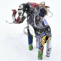 Handcrafted Recycled Aluminum Tin Can Art Elephant Ornament Made in Zimbabwe image 3