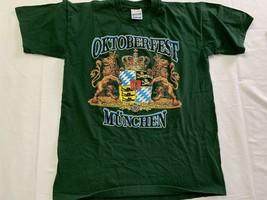 Oktoberfest Munchen Munich Spellout Graphic T Shirt Size Medium VTG 90s - $19.00