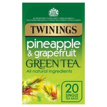 Twinings Pineapple & Grapefruit Green Tea 20 per pack - $6.33
