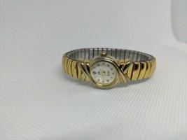 Vintage SV Sergio Valente Diamond Quartz Gold Tone Watch Working - $19.99