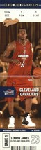 Lebron James RC 2003-04 Fleer Authenix Ticket Studs Rookie GEM MINT?CAVA... - $23.75