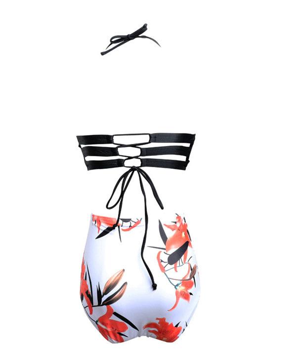 Women's Underwire Padded Push Up High Waist Two Pieces Bikini Set
