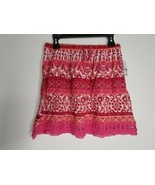 Simply Styled by Sears Girl's 10/12 M Pink Rayon Stripe Boho Skirt NEW - $8.99