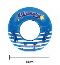 "Winnie Connie Bluerang Children Swim Ring Tube Inflatable Floats 31.8"" 81cm image 4"