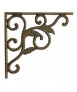 "Wall Shelf Bracket Leaf Vine Pattern Cast Iron Brace 8.75"" - $14.84"