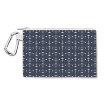 Anchors Mouse Ears Canvas Zip Pouch - $15.99+