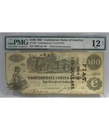 1862 $100 CT39 Confederate Locomotive Counterfeit Banknote w/Advertiseme... - $224.91