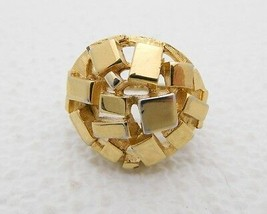 VTG VENDOME Pat 2,961,855 Gold Tone Modernist Adjustable Ring 5.5 to 6.5 - $74.25