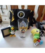 gift lot of 4 -Pittsburgh Pirates picture frame, plush parrot, glass, lu... - $22.00