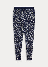 Polo Ralph Lauren Thames Floral Cotton Terry Pant Navy / Off White - $63.60