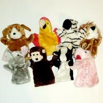 Plush Animal Simple Hand Puppets Elephant Dog Parrot Bear Pig Lion Zebra... - $10.00