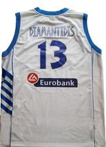 Dimitris Diamantidis #13 Greece Custom Basketball Jersey New Sewn White Any Size image 4
