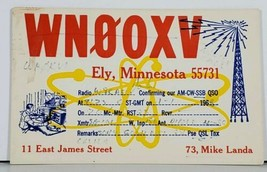 QSL Ely Minnesota WN0OXV Ham Radio Mike Landa Postcard J15 - $8.95