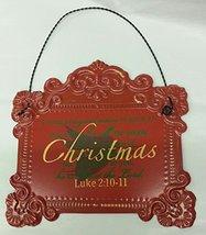 Giftcraft Tin Luke 2:10-11 Hanging Sign - $9.95