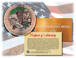 Colorized NAVAJO CODE TALKERS *Commemorative Medal* Bronze Coin US Marin... - $14.92