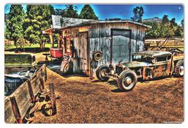 Old Vintage Country Garage Shop Sign 12×18 - $25.74