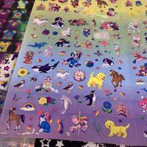 VTG Lisa Frank Poster Size Sticker Quad SUPER HTF About 5 Stickers Missing image 5