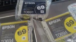 Set of 3 Epson 69  Ink Cartridge1- T06991 & 2- T0694- Genuine Brand New-... - $14.85