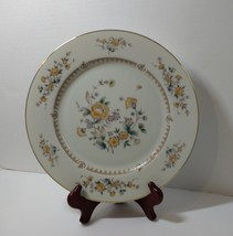 "Dinner Plate Mikasa Fine China Rose Peony Pattern Floral Gold Trim M2003 11"" - $9.74"