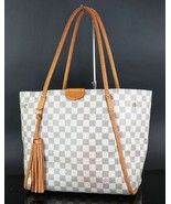 Authentic LOUIS VUITTON Propriano Damier Azur Tote Bag Purse #33586 - $1,250.00
