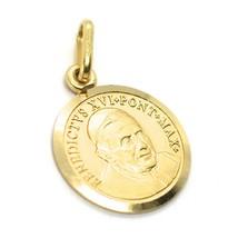 Pendentif Médaille or Jaune 18K, Pape Benoît XVI, Diamètre 1.5 cm, Solide image 1