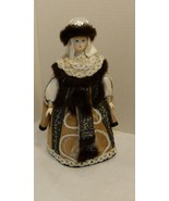 Russian Custom Made Boyar Doll In Traditional Dress By Petersburg Puppet... - $49.98
