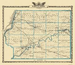 Whiteside Illinois Landowner - Warner 1876 - 26.19 x 23 - $36.95+