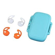 (Orange + White) Earphone Case 2 Pairs Ear Tips Earpods Cover Soft Silicone - $9.35