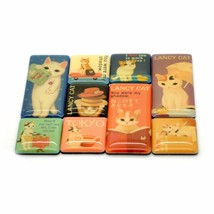 CUTE LANCY CAT MAGNET SET Small Tiny Refrigerator Magnets Kitty Japanese... - $7.88