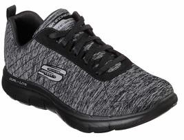 Womens Skechers Flex Appeal 2.0 Black Walking Sneakers [12753/BBK] - $47.99