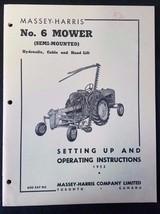 Original Massey Harris Setting Up & Operation Manual for No. 6 Mower - E... - $14.80