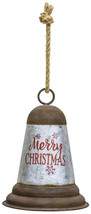 """Large 12 1/4"""" Tall Silver Tin Metal Christmas Bell Ornament Decoration - $19.99"""