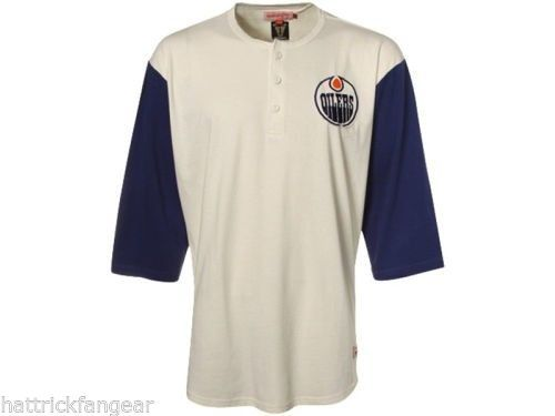 Primary image for EDMONTON OILERS - MITCHELL AND NESS NHL BREAKAWAY RAGLAN HOCKEY SHIRT - MEDIUM