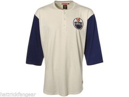 EDMONTON OILERS - MITCHELL AND NESS NHL BREAKAWAY RAGLAN HOCKEY SHIRT - ... - $37.99