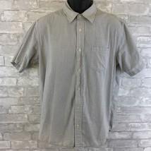 Gap Mens Plaid Short Sleeve Button Down Size Large 100% Cotton - $14.54