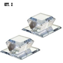 """Clear Acrylic Beveled Stick-On Mirror Knob - 2"""" Square - Pack of 2 - $35.95"""