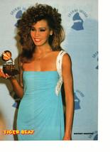 Whitney Houston teen magazine pinup clipping Grammy award blue dress Tiger Beat