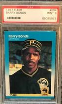 1987 Fleer Barry Bonds #604 Rookie Card Graded PSA 9 MINT - $18.58