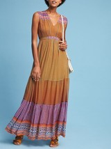 Anthropologie Aelyn Embroidered Maxi Dress by Tanvi Kedia $228  Sz 4 - NWT - $119.99