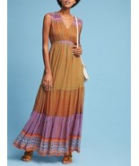 Anthropologie Aelyn Embroidered Maxi Dress by Tanvi Kedia $228  Sz 4 - NWT - $119.99